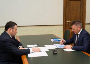Игорь Руденя и Рем Рихтер обсудили развитие Удомельского городского округа