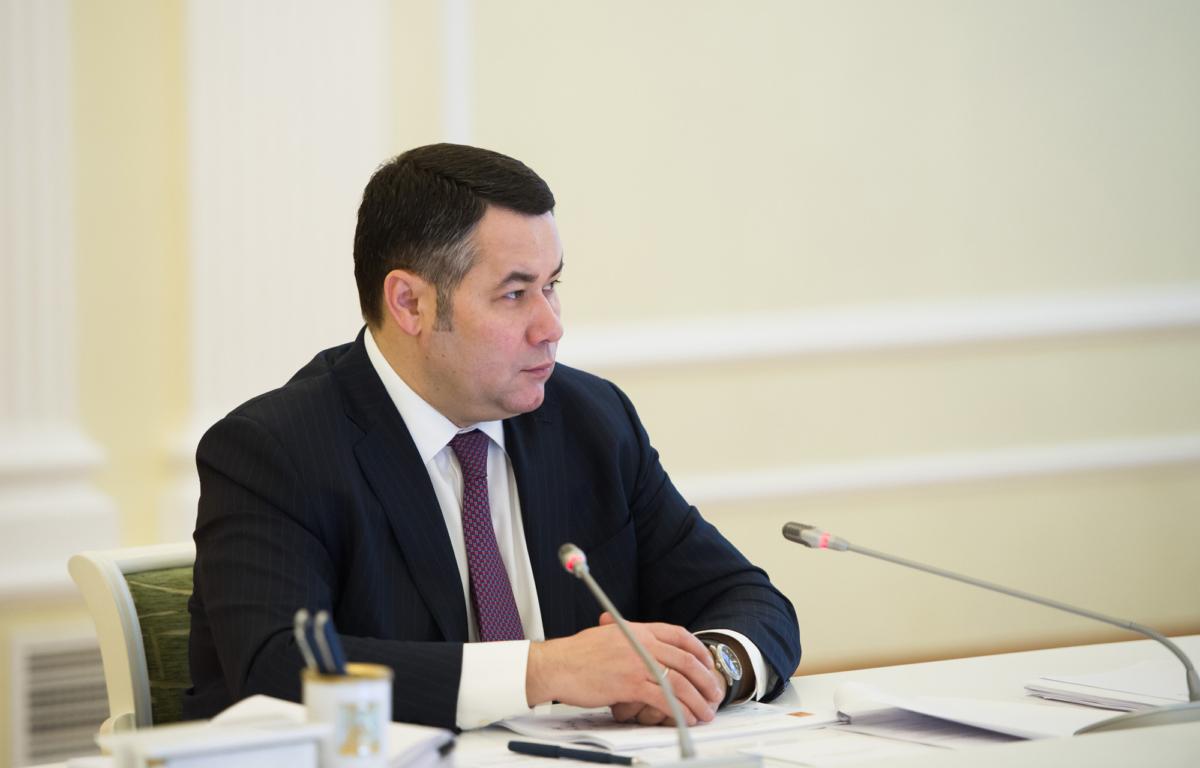 Игорь Руденя - третий в медиарейтинге губернаторов ЦФО за март