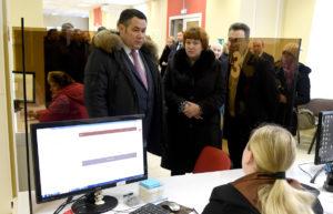 Игорь Руденя посетил офисы МФЦ в Твери