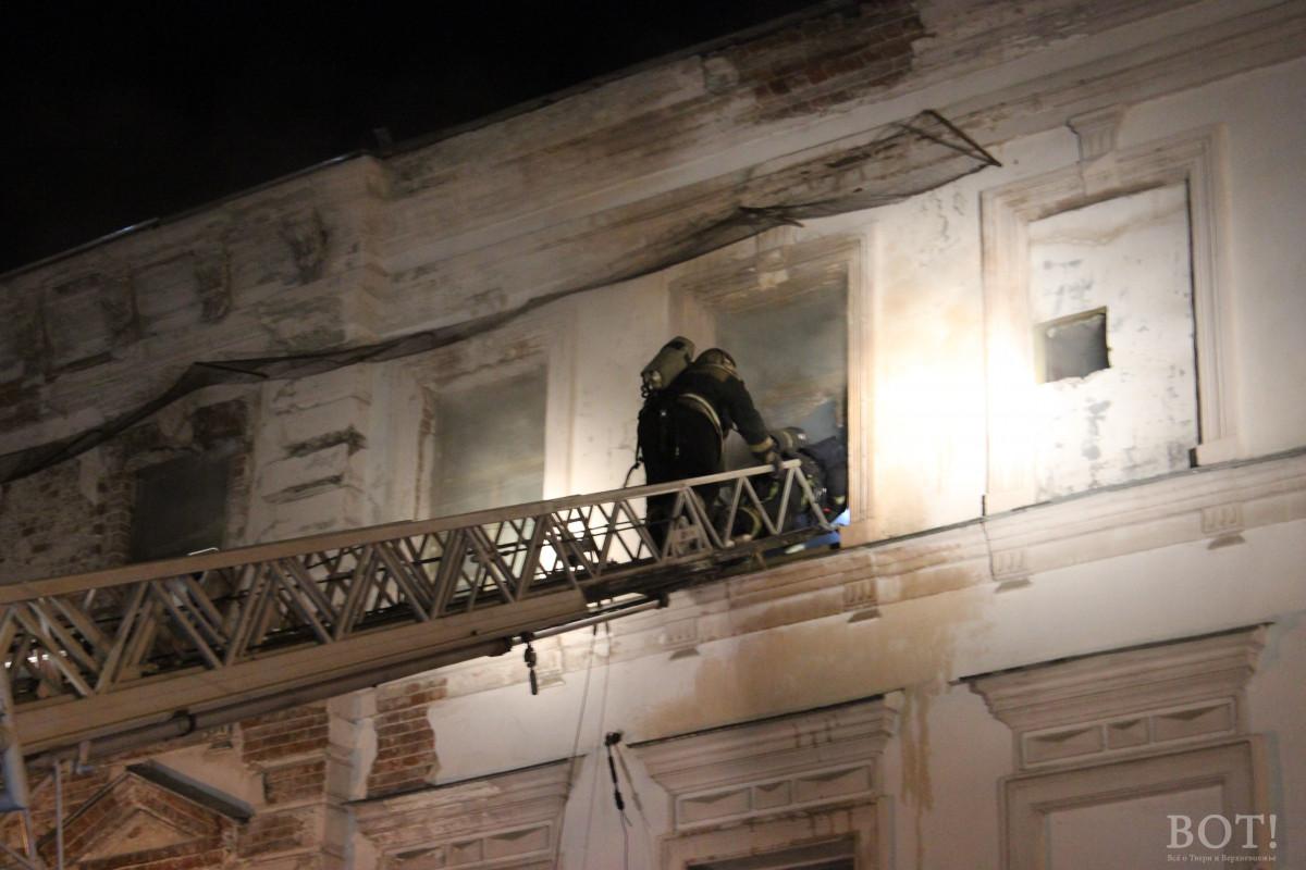 ВТвери горело сооружение бывшей гостиницы наНовоторжской