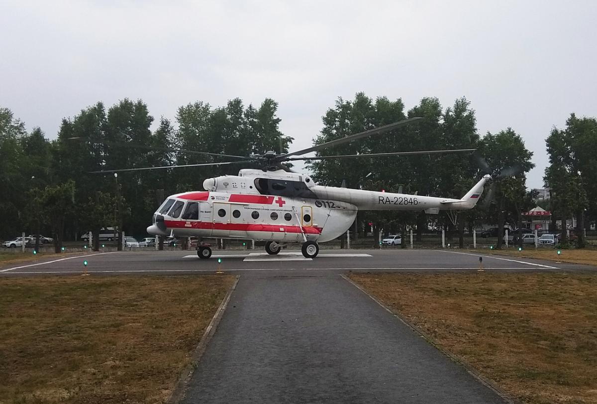 Девять человек доставили вертолетом санавиации в медицинские учреждения Твери