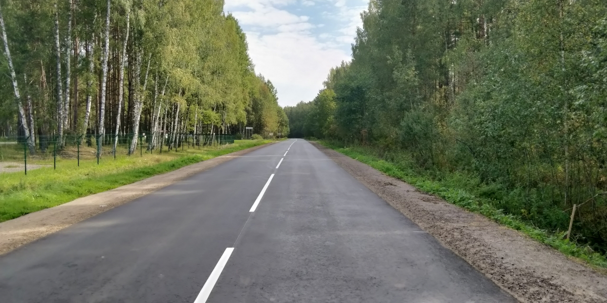 В Тверской области завершен ремонт автодороги Конаково – Дулово – Высоково