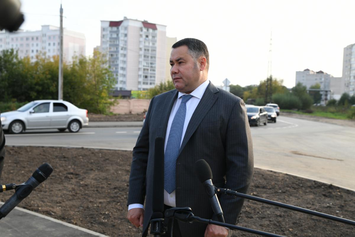 В Твери ремонт дороги на Луначарского проверил губернатор