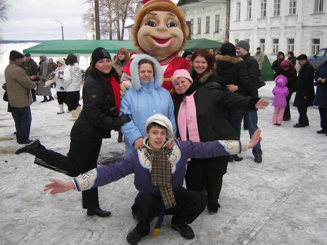 В Калязине Тверской области проходят народные гулянья