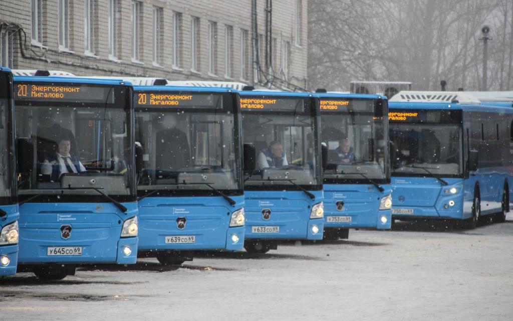 В Твери и Калининском районе синие автобусы запустили ещё на четыре маршрута