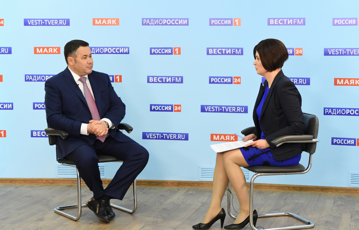Губернатор ИгорьРуденявыступит в прямом эфире телеканала «Россия 24» Тверь
