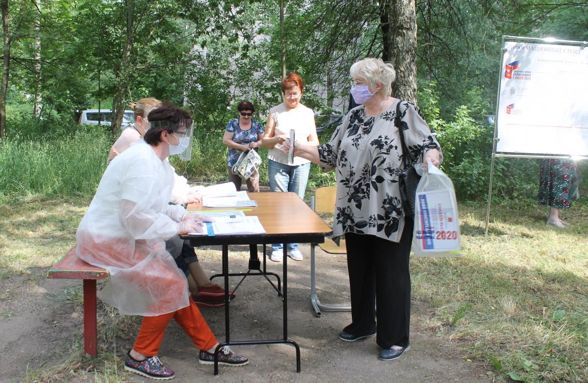 Голосование в Тверской области проходит во дворах домов и на дачах