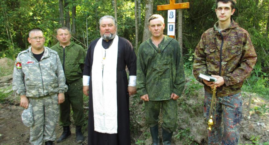 В Тверской области установлен крест на месте гибели военного самолета