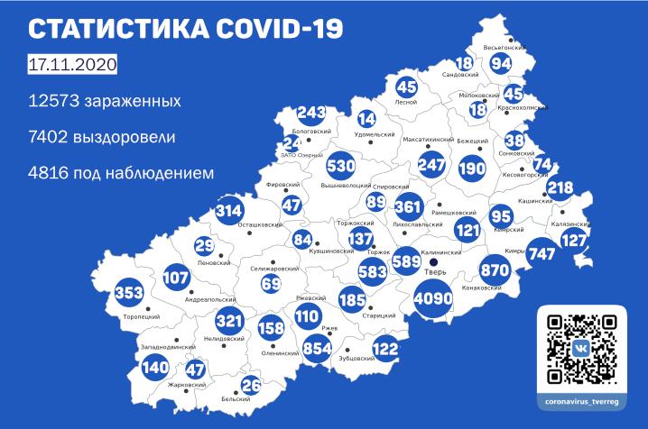 В Тверской области ситуация с коронавирусом не улучшается