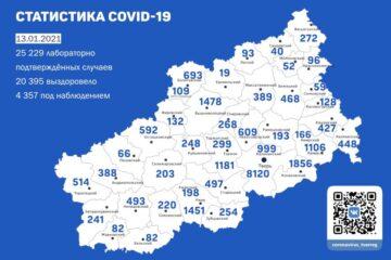 13 января: новая сводка по коронавирусу в Тверской области