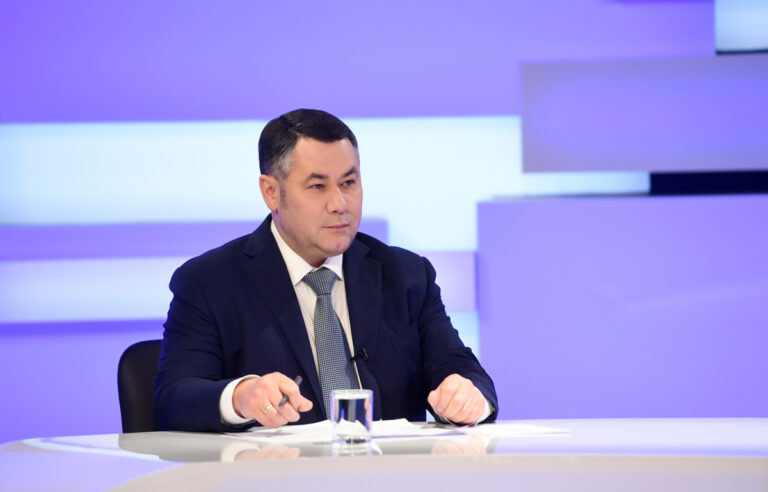 Игорь Руденя ответит на вопросы в прямом эфире телеканала «Россия 24» Тверь