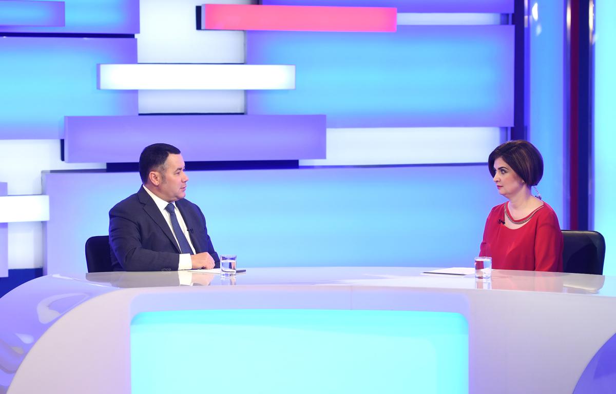 Игорь Руденя ответил на актуальные вопросы в прямом эфире