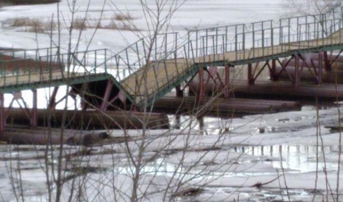 В Тверской области обрушился мост