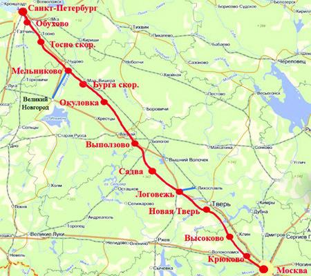 Опубликован проект прохождения ВСМ через Тверскую область