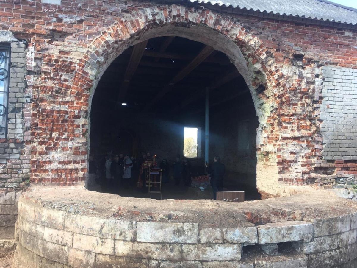 Под Тверью начали восстановление церкви Рождества Богородицы