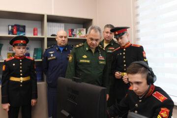 Сергей Шойгу посетил Тверское суворовское училище