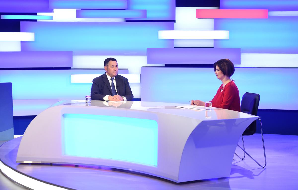 Игорь Руденя ответит на вопросы телезрителей в прямом эфире