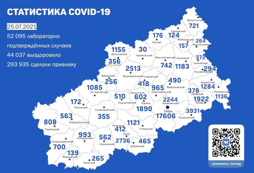 В Тверской области обновилась сводка по COVID -19