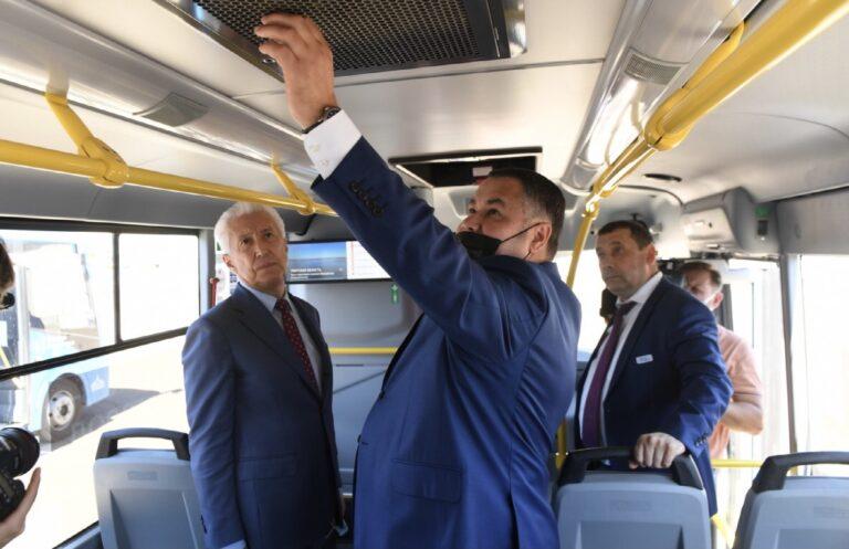 Тверской губернатор посетил автобусный парк во Ржеве