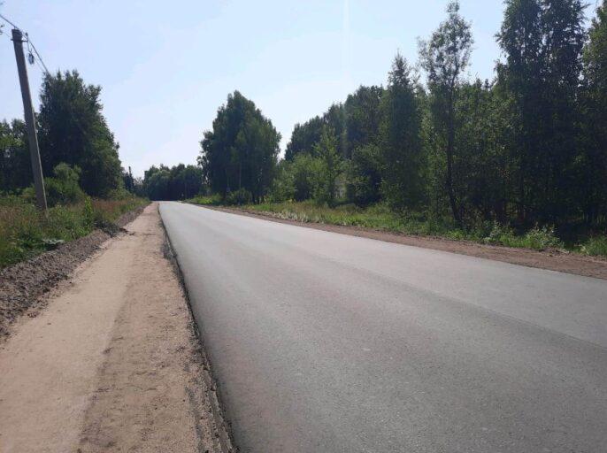 В Тверской области продолжается ремонт автодороги из Дубны в Горицы