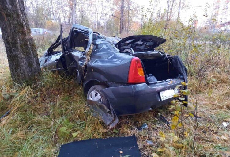В Тверской области мужчина не справился с управлением авто и влетел в дерево
